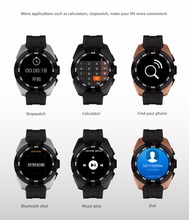 "NB1 Smart Watch Bluetooth 4.0 Pedometer Heart rate Sedentary reminder 1.22"" Round Touch Screen CE RoHs nb1 Smart Watch Phones"