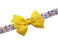 Baby Elastic Head Band Bow Boutique Grosgrain Ribbon Hair Bows For Baby Girls Cute Kids Hair Ribbon Bows Boutique Girls