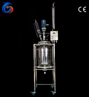 30L Double layer modern laboratory medical glass apparatus