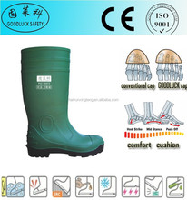 Anti-Smashing Green Knee High PVC Rain Boots