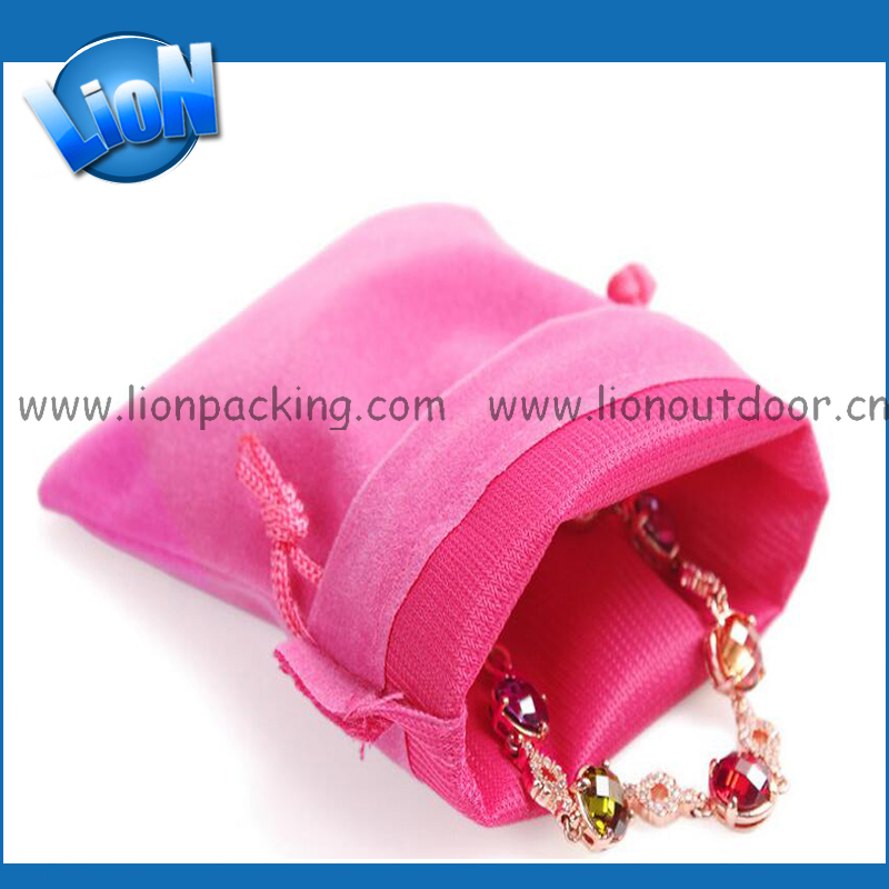 Manufacturer Specialized Drawstring Velvet Pouch Bag Fabric Bag Wholesale