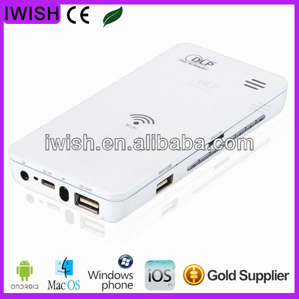 for IPHONE 5 FOR samsung galaxy s4 LED pocket projector support Android iOS Windows Mac