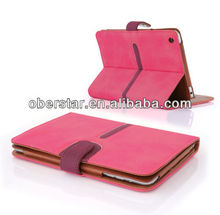 Tan Buckle Leather Stand Case Cover For Apple iPad Air / iPad 5
