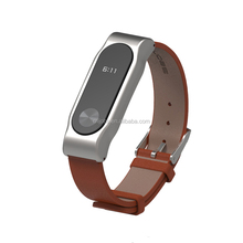 Mijobs Genuine leather watch band for miband 2 strap