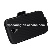 Holster combo belt clip case for Samsung Galaxy S4 with kickstand case