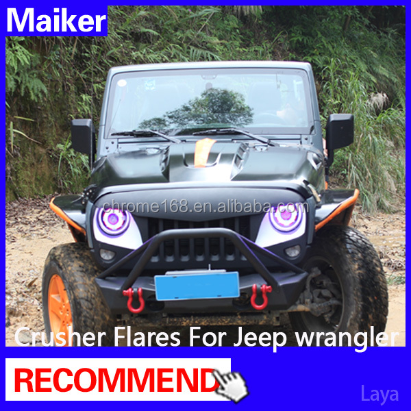 auto parts fenders trim for jeep wrangler accessories jk fender flares From maiker