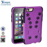 Veaqee good handy 5 color hot pc+tpu plain rubber jelly skin case cover for iphone 6