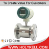 Holykell factory Low cost electromagnetic Intelligent Diesel fuel Digital Flow Meter Magnetic Flow Meter for Liquid Monitoring