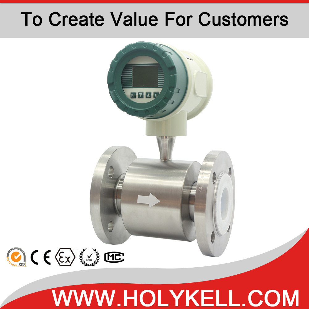 low cost electromagnetic Intelligent Diesel fuel Digital Flow Meter Magnetic Flow Meter for Liquid Monitoring
