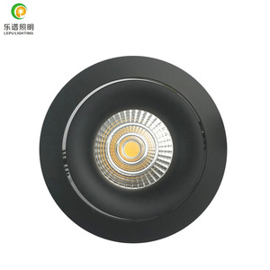 lepu 0-100% dimming warm dim cob led downlight with reflector lens hot selling in Nordic