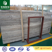 Silver Grey travertine marble big slabs, grey marble, Italian marble
