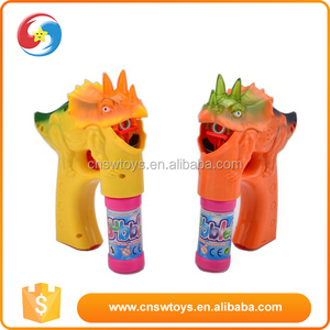 Competitive price kid play plastic dinosaur bubble gun