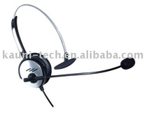 call center headset/telephone headset/headset telephon with QD cord, RJ11 plug for call centre or telemarket(OEM/ODM)--KA-HT100