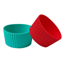 Custom ceramic coffee cup sleeves, colorful silicone sleeve cup holder