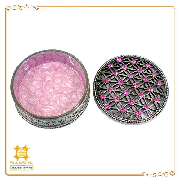 Taiwan elegant pink jewelry wholesales crystal accessories box