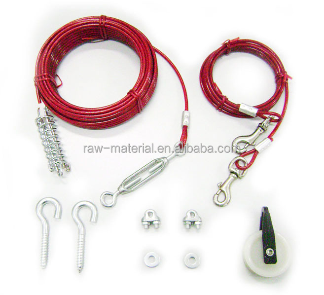High Quality PVC Coated Wire Rope Dog Leash