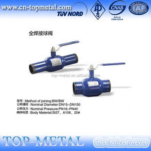 socket 3-pc full long butt weld ball valve