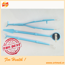 Disposable emergency dental examination kits