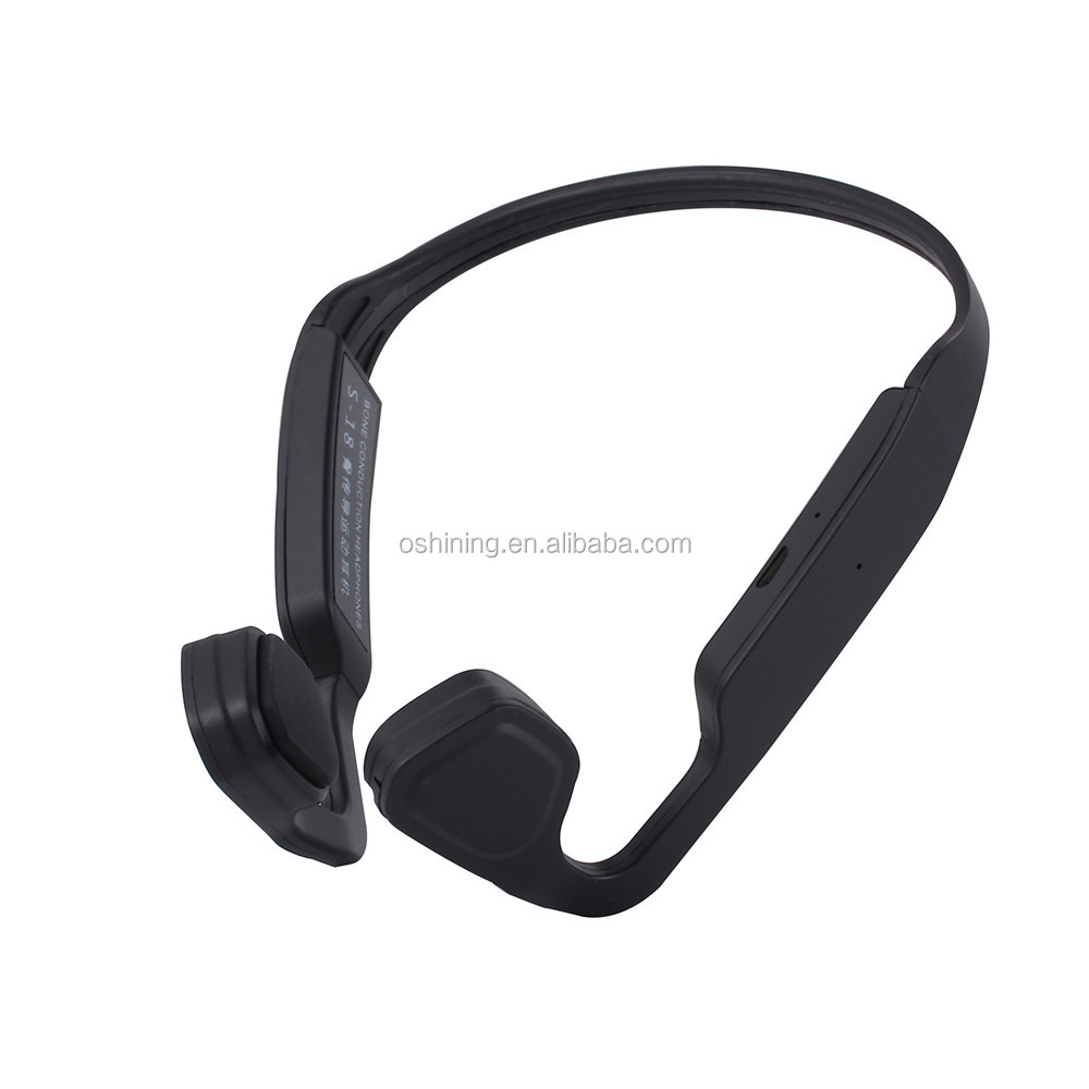 Best Open Ear Handsfree Waterproof Bone Conduction Headset V4.2 Wireless Earphones for Hearing Aids with Noise Reduction Microph