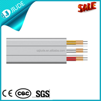 PVC flexible elevator cable/ flat elevator travelling cable with steel carrier element for elevators 24cores
