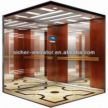 luxury noble wood quality passenger elevator with CE certificate