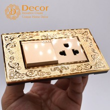Wenzhou Decor Electric 12A light wall switch + 2 pin 13A wall power outlet socket for South America market Centrial America