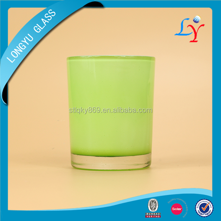 custom wholesale colored glassware for candle holder drinking shot glass decorative glassware