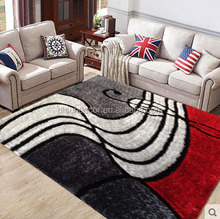 decorative hand hooked 3d design shaggy carpet and rug mats