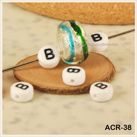 Acrylic Resin Alphabet Letter Beads