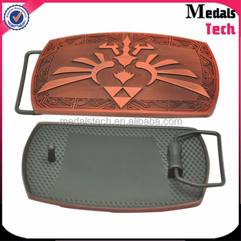 High quality custom metal antique copper belt buckle