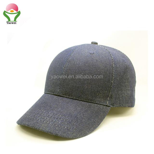 newest Hot selling fashion plain Washed dark blue jeans blank basketball fishing baseball hats cowboy snapback cap