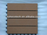 wpc Interlocking wood plastic deck tiles/interlocking removable floor tiles