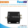2 port BNC VIDEO AUDIO SPLITTER , 120m with Re-clocking function