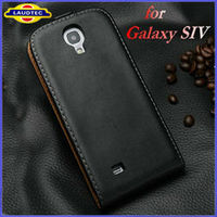Genuine Leather Flip Case Cover for Samsung Galaxy S4