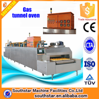 100% manufacturer bakery gas automatic tunnel oven/bread baking tunnel oven