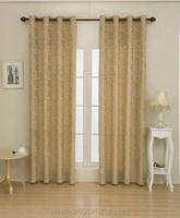 2PCS JACQUARED 100% POLYESTER WINDOW CURTAINS MADE IN CHINA FOR THE LIVING ROOM