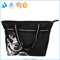 Custom wholesale professional women polyester tote messenger bag