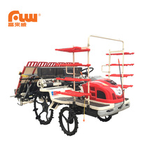 2ZG-6DMF high efficient 6 rows riding type rice transplanter with fertilization device