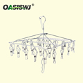 High Quality Welded Metal Hanger,Clothing Hanger---S/S--26clips--Foldable 14'X13.5'x16'
