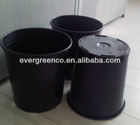 plastic plant pots wholesale black flower pot black gallon planter pot