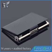 Quick release business name leather access card holder real wholesale