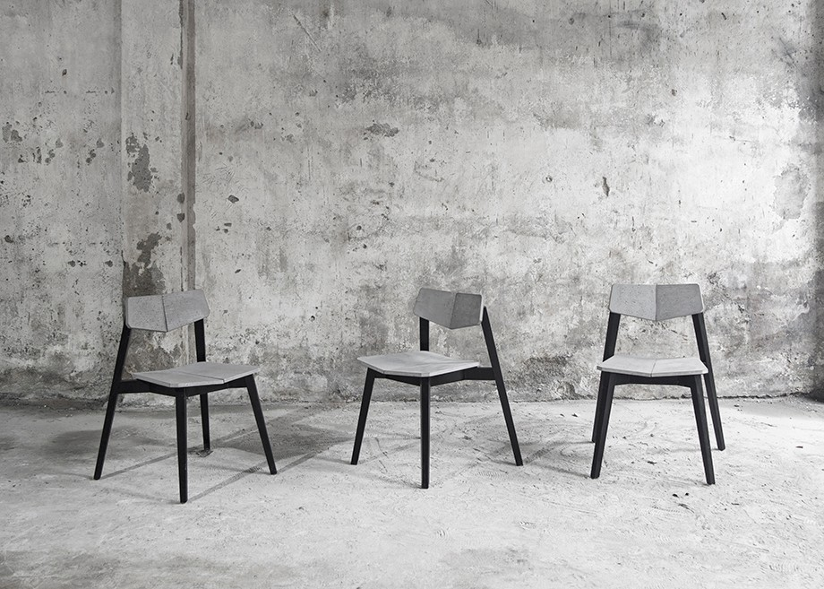 H Chair back-rest chair cement product design by BENTU Chair