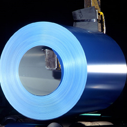 Prepainted GL Steel Coil / PPGL Color Coated Steel Sheet In Coil
