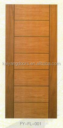 2016 new design Middle east/Africa interior solid meranti/teak veneer wooden design door