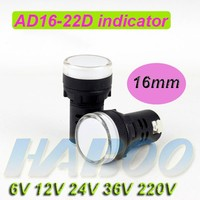 indicator light 22mm LED light lamp torch with signal indicator white color 6v 12v 24v 36v 220v indicator lighting