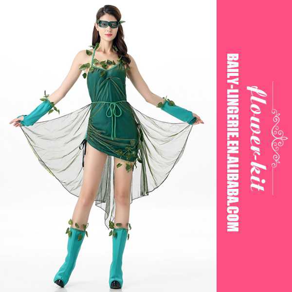 Sexy Women Green Leaf Costumes Halloween Beauty Adult Party Costumes