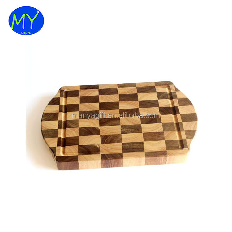 The best and cheapest oval end grain wooden chopping board digital printed
