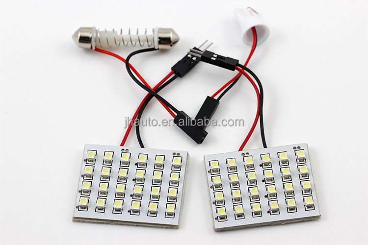High Quality LED Auto Lamp T10 1210 Car Interior Door Lights 24 SMD Roof Lamps Bulb For Cars