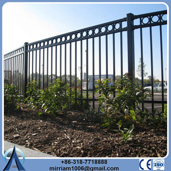 High Quality Cheap Custom steel fence design/steel grill fence designs
