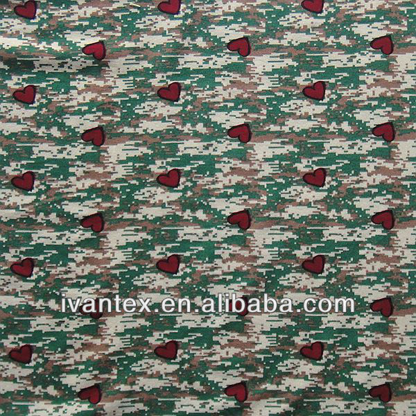 RAYON SPANDEX HEART PRINTED FABRIC
